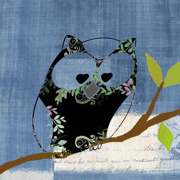 Wall Art - Digital Art - Owl Design - J140149146-v136bb by Variance Collections