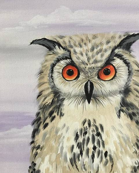 Wall Art - Painting - Owl by Elizabeth Hazelet