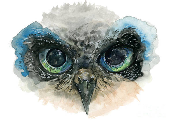 Painting - Owl Eyes by Lauren Heller