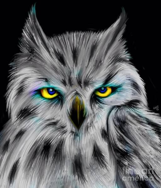 Wall Art - Digital Art - Owl Eyes  by Nick Gustafson