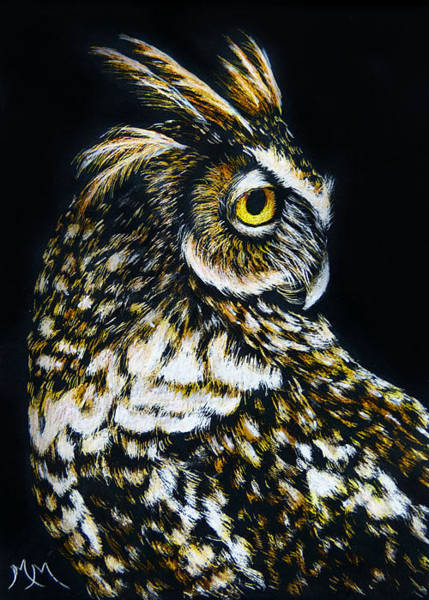Painting - Owl IIi by Monique Morin Matson