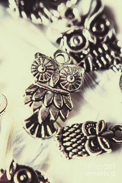 Tibetan Wall Art - Photograph - Owl Pendants. Charms Of Wisdom by Jorgo Photography - Wall Art Gallery