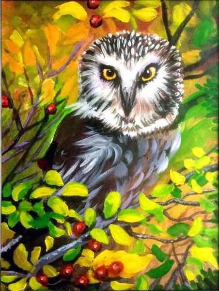 Wall Art - Painting - Owl by Robert Korhonen