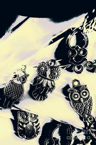 Owls From Blue Yonder Art Print