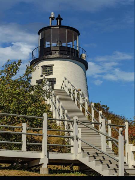 Brick House Mixed Media - Owls Head Light. Maine by Capt Gerry Hare