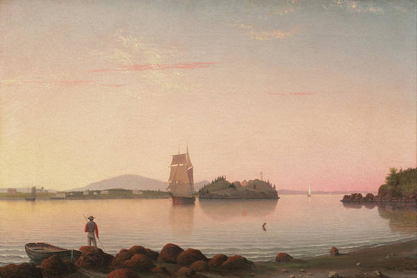 Painting - Owl's Head Penobscot Bay Maine By Fitz Henry Lane 1862 by Fitz Henry Lane