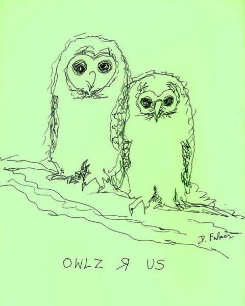 Owlz R Us Art Print