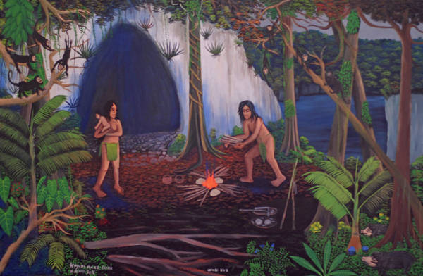 Wall Art - Painting - Owners Of The Jungle by Kayum Maax Garcia