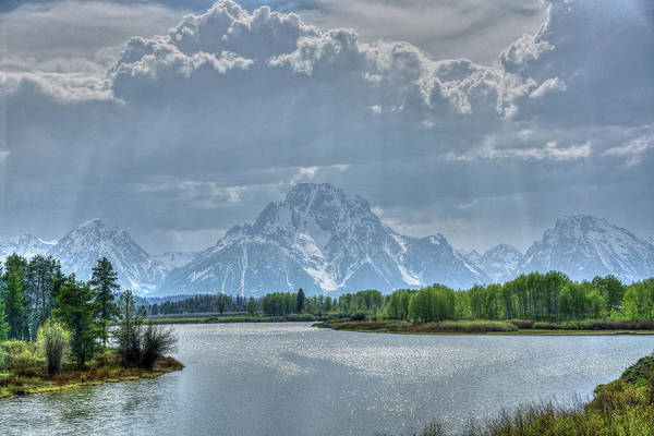 Photograph - Oxbow Bend Sun Rays by David Armstrong