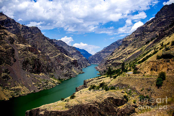 Photograph - Oxbow Dam Tailwater Idaho Landscapes By Kaylyn Franks by Omaste Witkowski