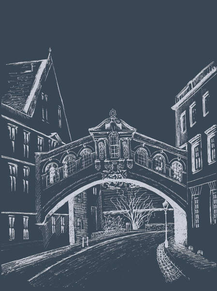 Digital Art - Oxford At Night by Elizabeth Lock
