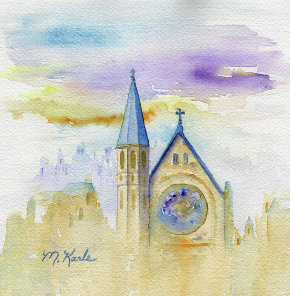 Painting - Oxford Church by Marsha Karle