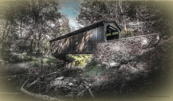 Beam Of Light Photograph - Oxford Covered Bridge by Marvin Spates