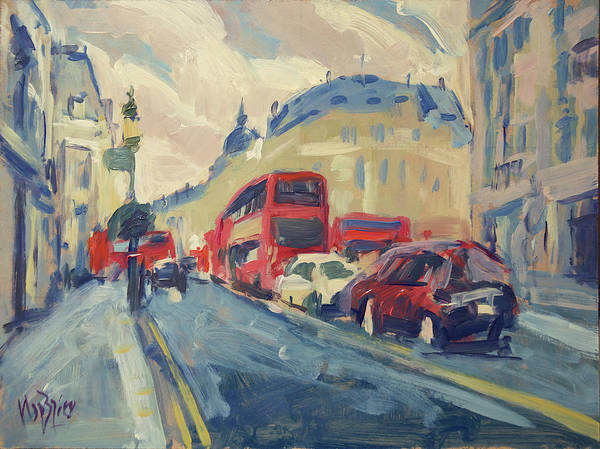 Wall Art - Painting - Oxford Street by Nop Briex