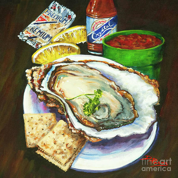 Wall Art - Painting - Oyster And Crystal by Dianne Parks