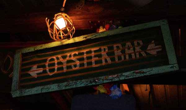 Oyster Bar Wall Art - Photograph - Oyster Bar Sign by David Lee Thompson