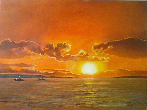Painting - Oyster Bay by Tim Johnson