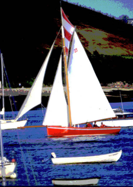 Mixed Media - Oyster Boats by Brian Roscorla