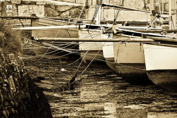 Oyster Boats Laid Up At Mylor Art Print