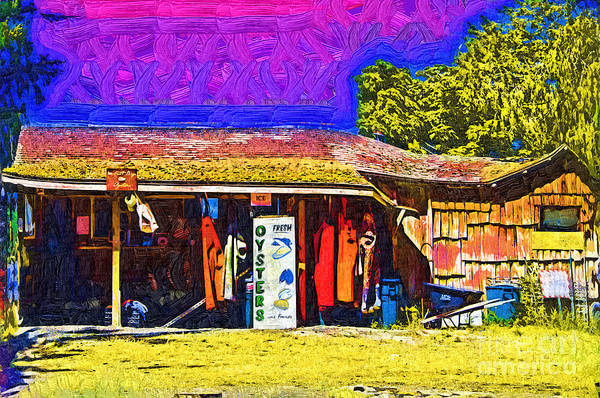 Digital Art - Oyster Hut by Kirt Tisdale