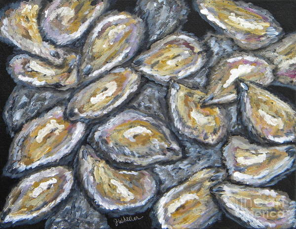 Wall Art - Painting - Oyster Stack by JoAnn Wheeler