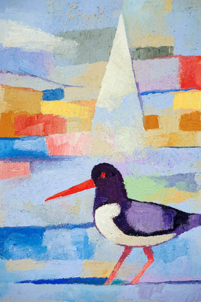 Painting - Oystercatcher At Sea by Lutz Baar