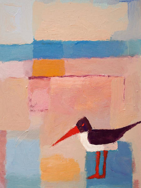 Painting - Oystercatcher On The Beach by Lutz Baar