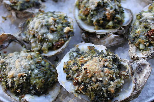 Oyster Bar Wall Art - Photograph - Oysters Rockefeller by Angie Wingerd