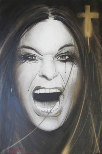 Scream Painting - Ozzy by Christian Chapman Art