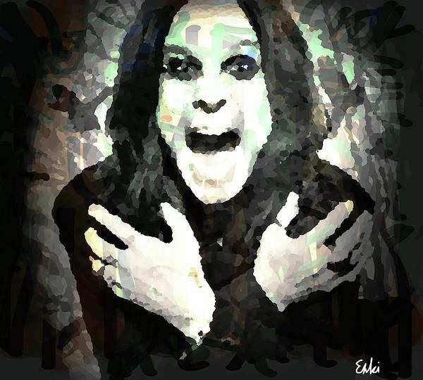 Blue Oyster Cult Wall Art - Mixed Media - Ozzy Osbourne By Enki  by Enki Art
