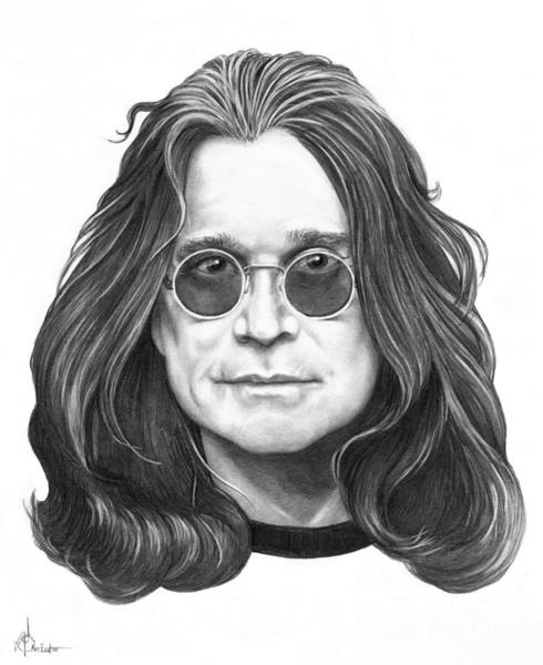Famous People Drawing - Ozzy Osbourne by Murphy Elliott