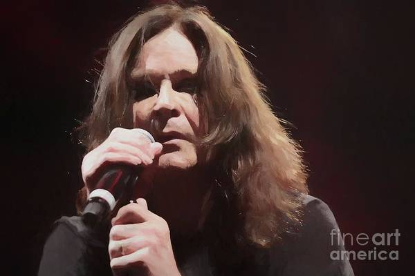 Ozzy Osbourne Wall Art - Photograph - Ozzy Osbourne Oil Painting Enlargements by Concert Photos