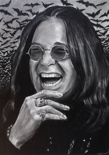 Drawing - Ozzy by William Underwood