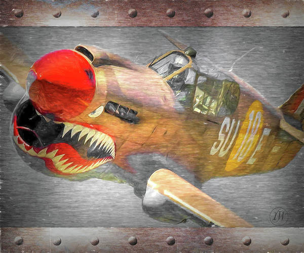 Prop Digital Art - P-40 Flying Tiger by Rick Wiles