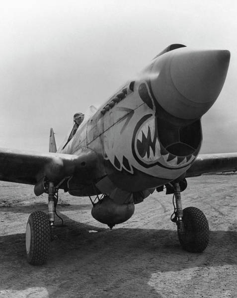 Wwii Photograph - P-40 Warhawk - Flying Tiger by War Is Hell Store