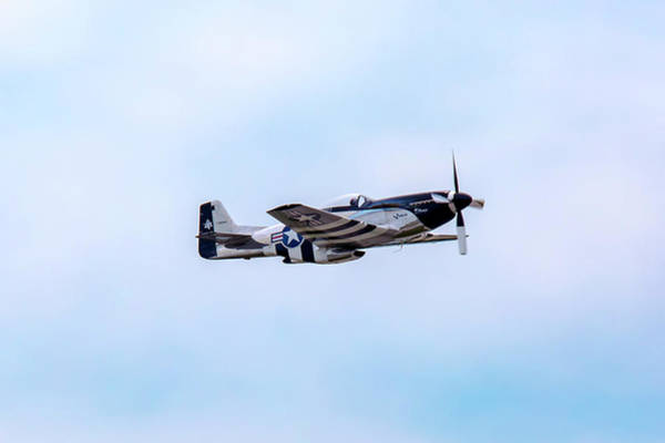Photograph - P-51 Mustang Quick Silver by Jack R Perry