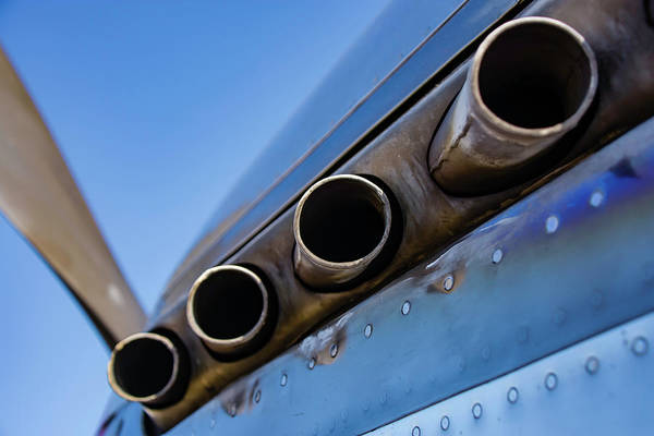 Photograph - P-51d Mustang Exhaust by Chris Coffee