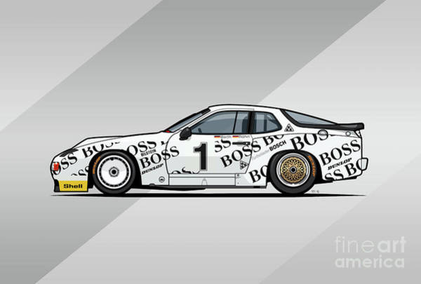 Wall Art - Digital Art - P 924 Carrera Gtp/gtr Le Mans by Monkey Crisis On Mars