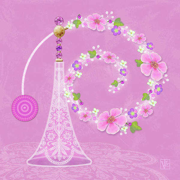 Digital Art - P Is For Perfume by Valerie Drake Lesiak