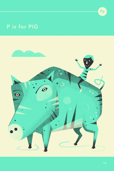 P Is For Pig Art Print