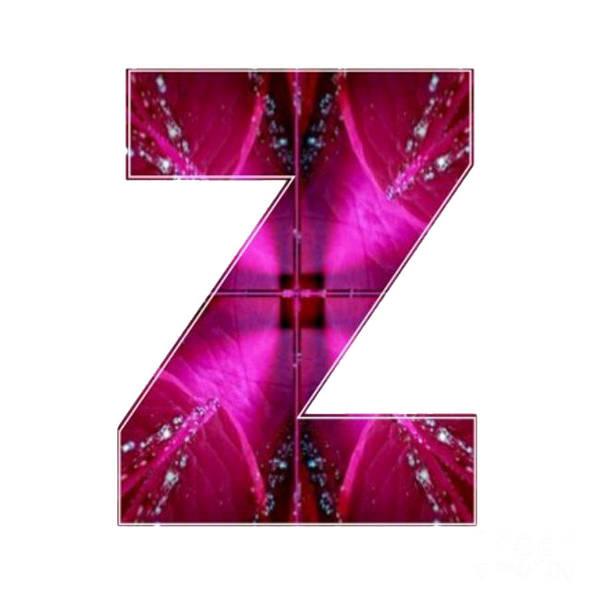 Cut-out Mixed Media - Z Zz Zzz Alpha Art On Shirts Alphabets Initials   Shirts Jersey T-shirts V-neck By Navinjoshi by Navin Joshi