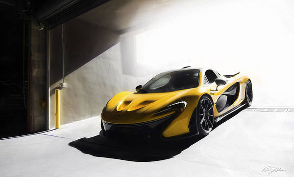 Supercars Digital Art - P1 Parking Only by Peter Chilelli