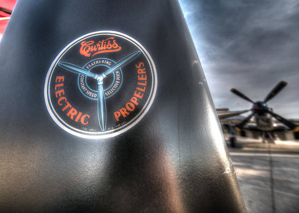 Photograph - P40 Prop With A P51 Mustang by John King