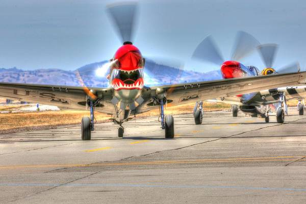Photograph - P40 Warhawk Taxis At Hollister by John King