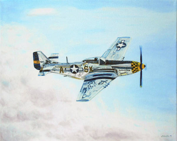 World War 11 Painting - P51 Mustang In Flight by Jeffrey Phillips