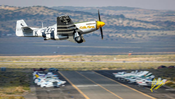 Photograph - P51 Mustang Little Horse Gear Coming Up Friday At Reno Air Races 16x9 Aspect Signature Edition by John King