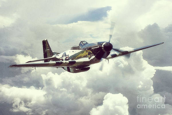 Quick Digital Art - P51 Mustang - Quick Silver by J Biggadike