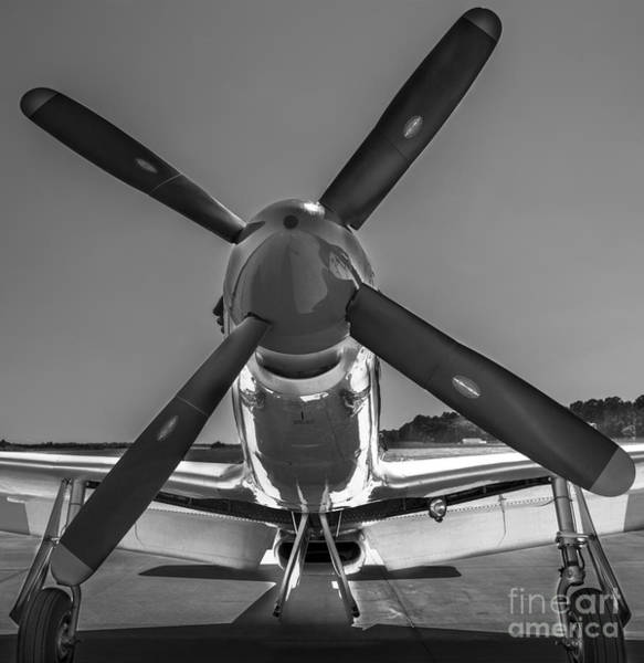 Photograph - P51 Mustang Vintage Aircraft by Dale Powell