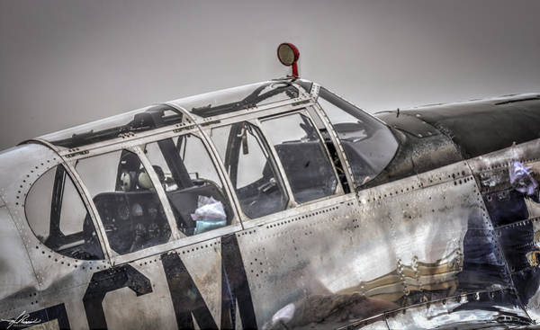 Photograph - P51b Mustang Cockpit by Philip Rispin