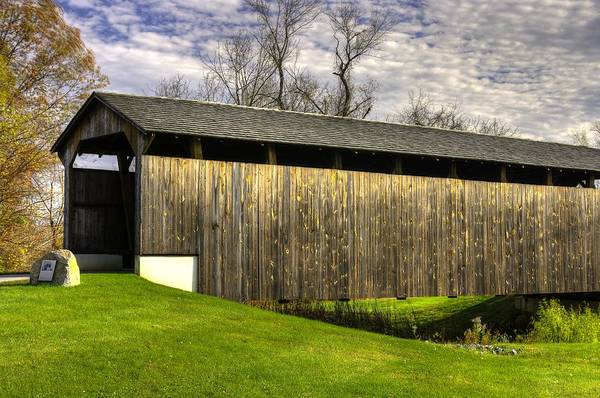 Wall Art - Photograph - Pa Country Roads - Larkin Covered Bridge At Eagle Near Milford Mills No. 10a  Chester County by Michael Mazaika